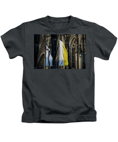 Cologne Cathedral Flags Kids T-Shirt