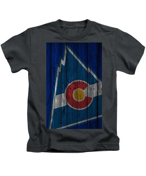 Colorado Rockies Wood Fence Kids T-Shirt