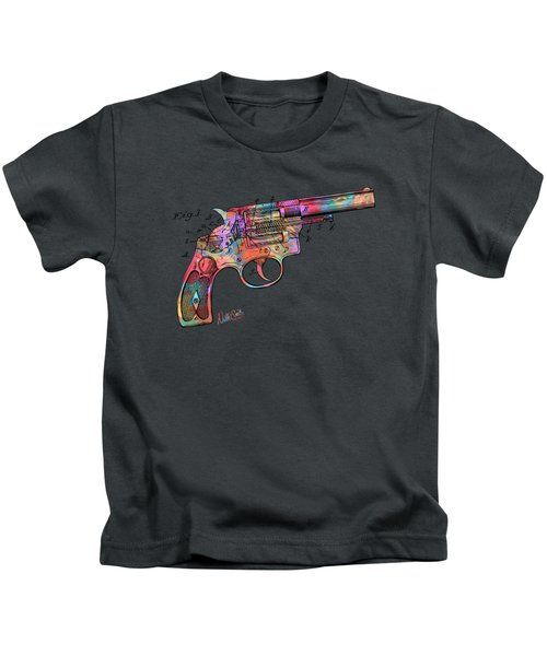 Colorful 1896 Wesson Revolver Patent Kids T-Shirt