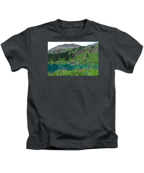 Colorful Blue Lakes Landscape Kids T-Shirt