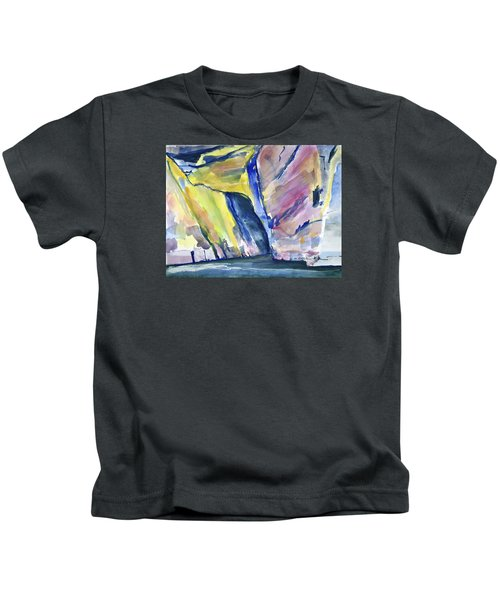 Colorful Cliffs And Cave Kids T-Shirt