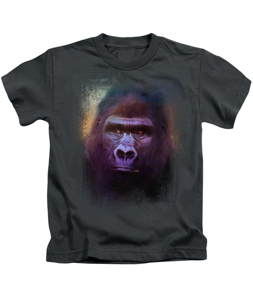 Colorful Expressions Gorilla Kids T-Shirt by Jai Johnson