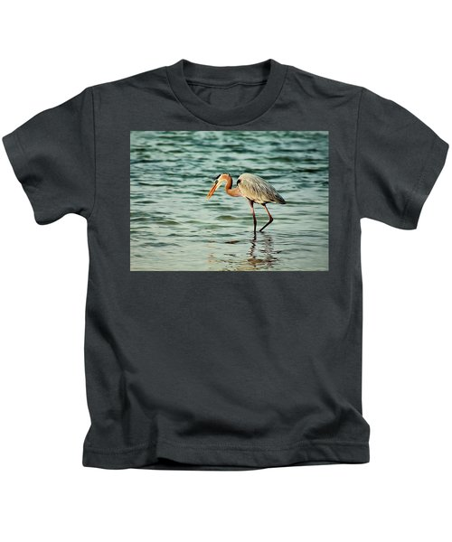 Colorful Heron Kids T-Shirt