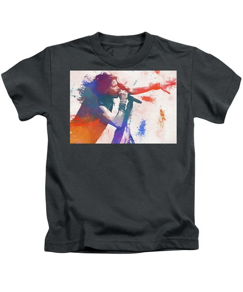 Colorful Steven Tyler Paint Splatter Kids T-Shirt