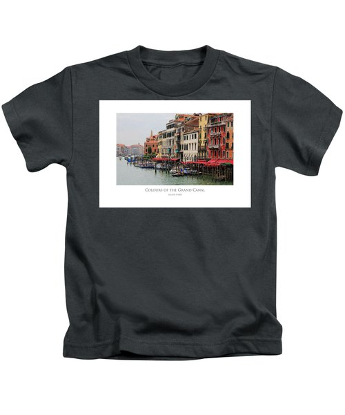 Colours Of The Grand Canal Kids T-Shirt