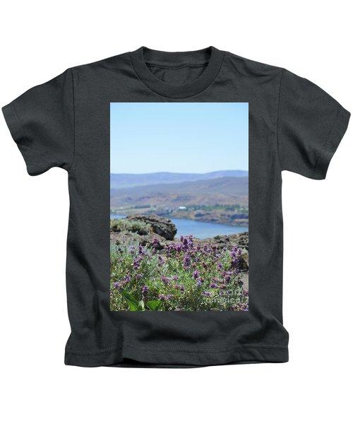 Columbia River Scenic Blooms #1 Kids T-Shirt