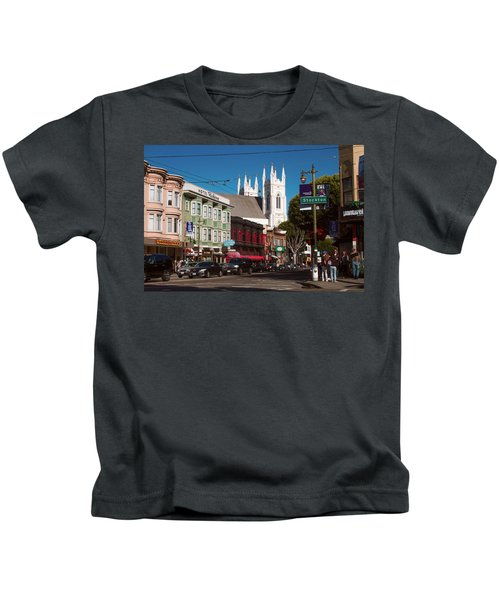 Columbus And Stockton In North Beach Kids T-Shirt