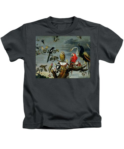 Concert Of Birds Kids T-Shirt by Frans Snijders