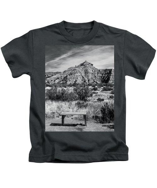 Contemplation Bench Bw Kids T-Shirt
