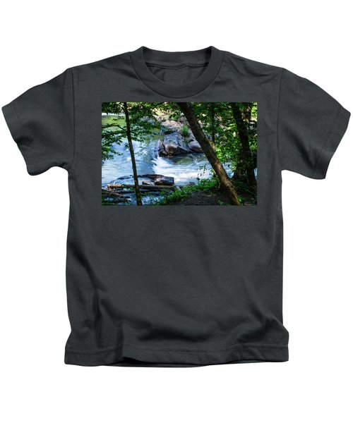 Cool Mountain Stream Kids T-Shirt