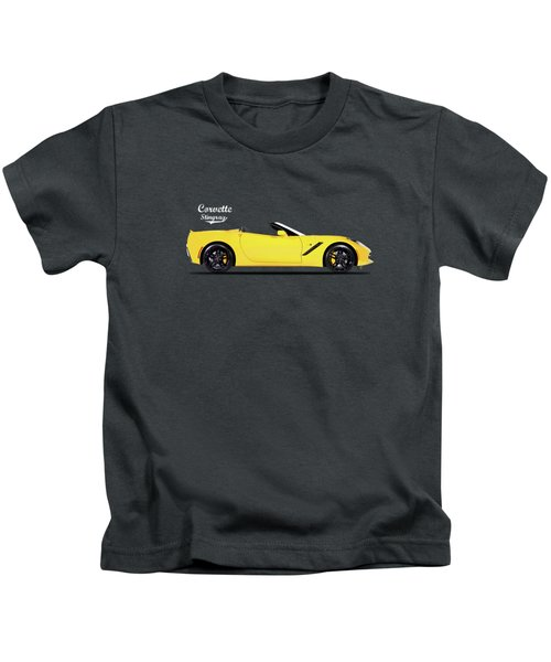 Corvette In Yellow Kids T-Shirt