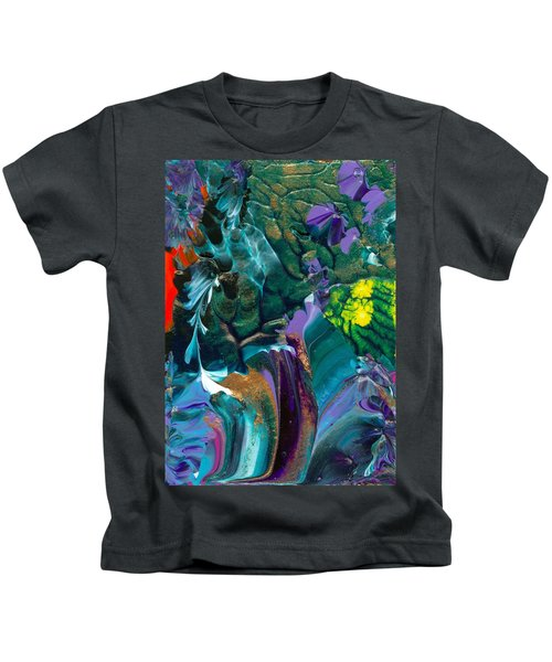 Cosmic Feathered Webbed Universe Kids T-Shirt