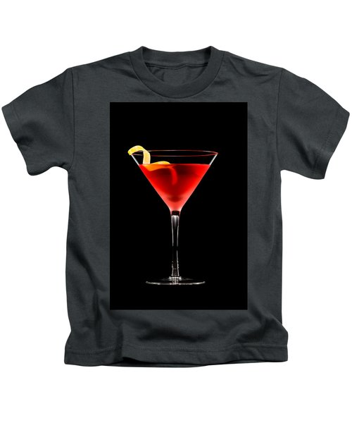 Cosmopolitan Cocktail In Front Of A Black Background  Kids T-Shirt