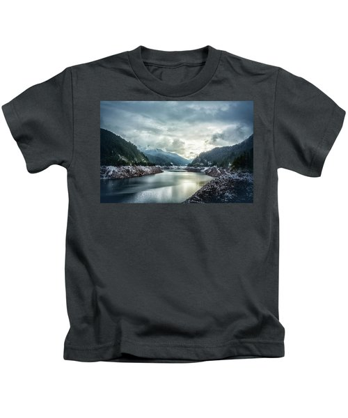Cougar Reservoir On A Snowy Day Kids T-Shirt