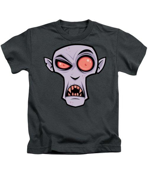 Count Dracula Kids T-Shirt by John Schwegel