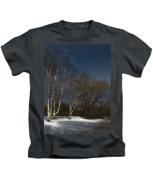 Country Roadside Birch Kids T-Shirt