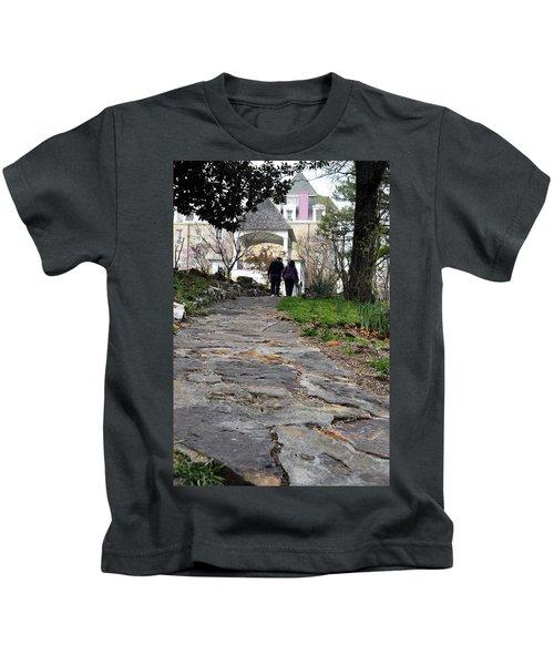 Couple On A Garden Path Kids T-Shirt