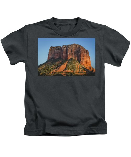 Courthouse Butte At Sunset Kids T-Shirt