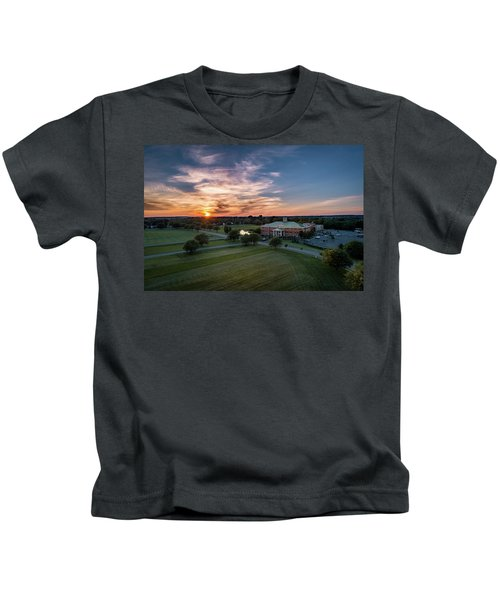 Courthouse Sunset Kids T-Shirt