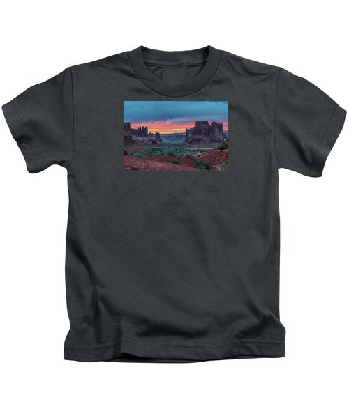 Courthouse Towers Arches National Park Kids T-Shirt