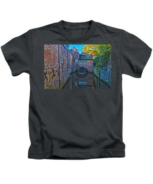 Covered Canal In Den Bosch Kids T-Shirt