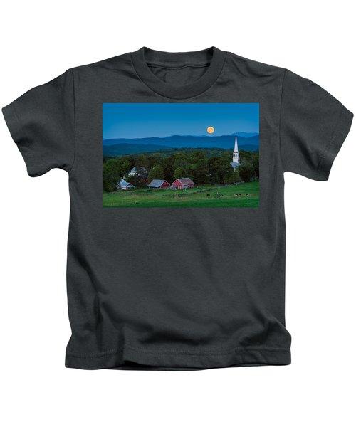 Cow Under The Moon Kids T-Shirt