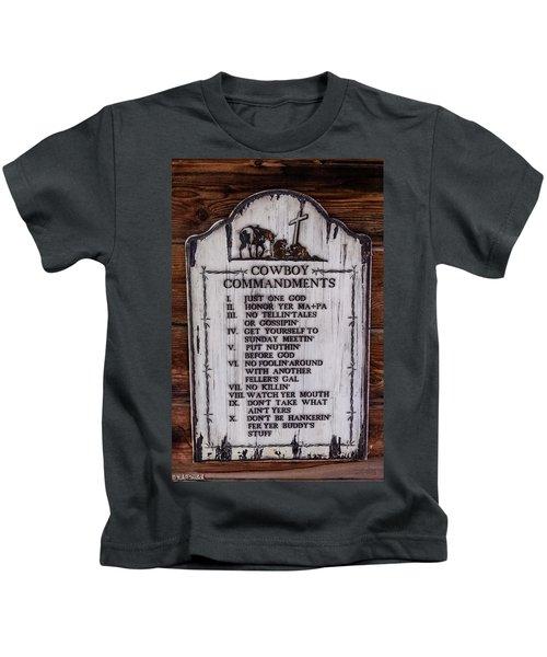 Cowboy Commandments Kids T-Shirt