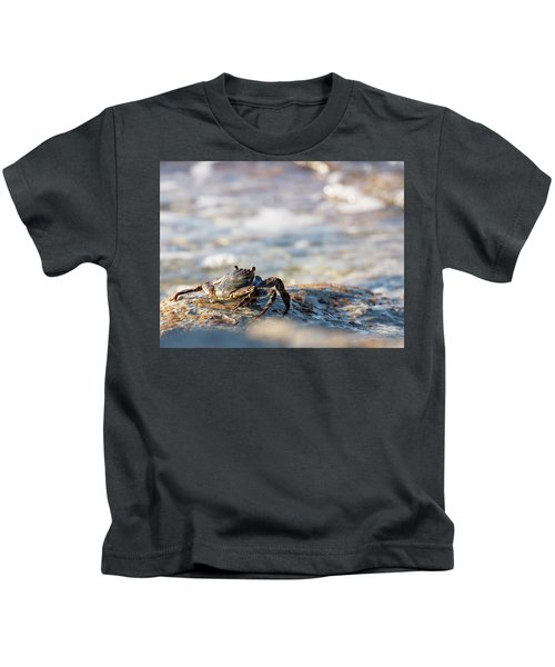 Crab Looking For Food Kids T-Shirt