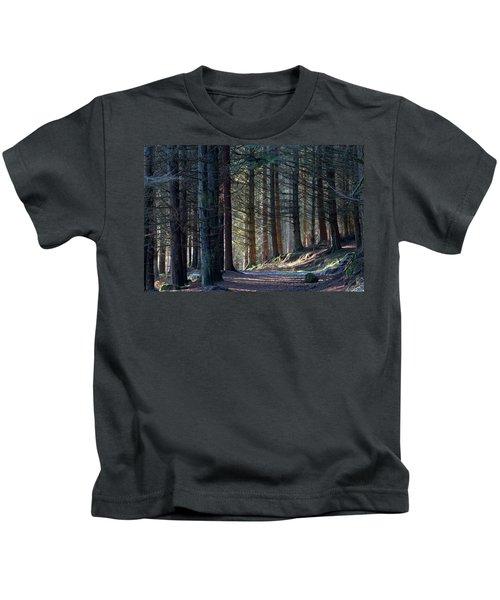 Craig Dunain - Forest In Winter Light Kids T-Shirt