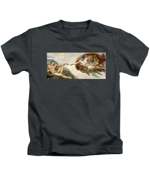 Creation Of Adam - Painted By Michelangelo Kids T-Shirt