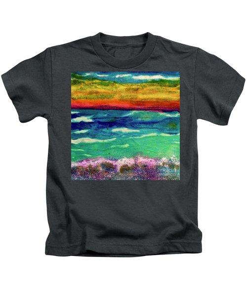 Crepe Paper Sunset Kids T-Shirt