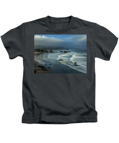 Crescent Beach And Surf Kids T-Shirt