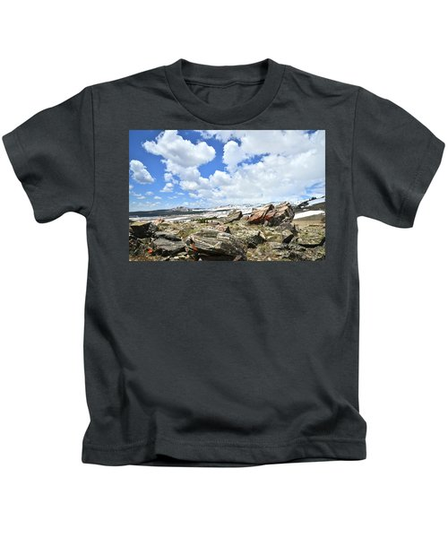 Crest Of Big Horn Pass In Wyoming Kids T-Shirt