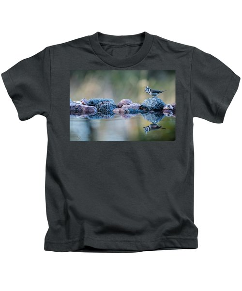 Crested Tit's Reflection Kids T-Shirt