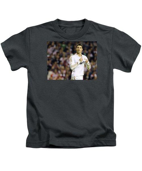 Cristiano Ronaldo 4 Kids T-Shirt by Rafa Rivas