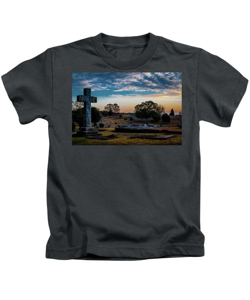 Cross At Sunset Kids T-Shirt