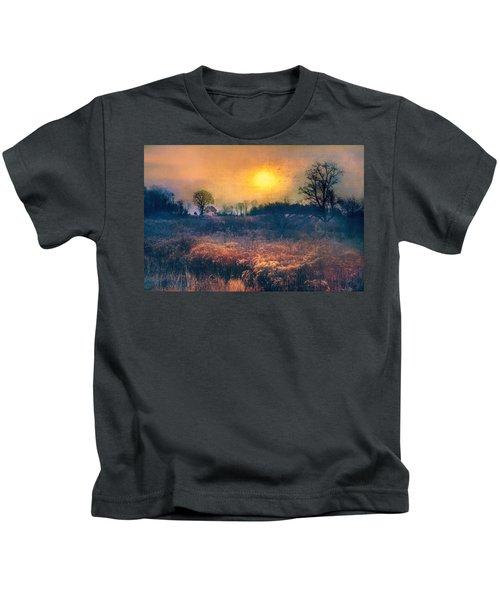 Crossing Through The Meadows Kids T-Shirt