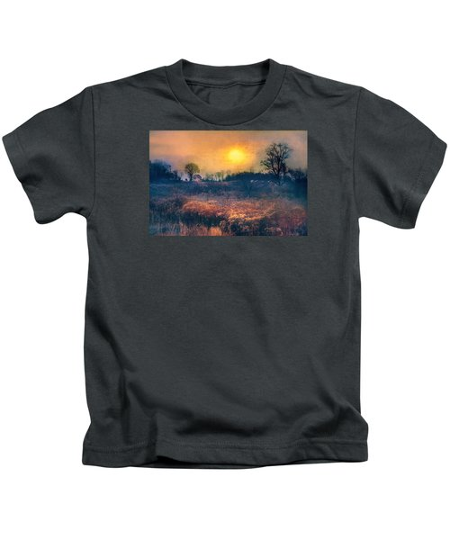 Crossing Through The Meadows Kids T-Shirt
