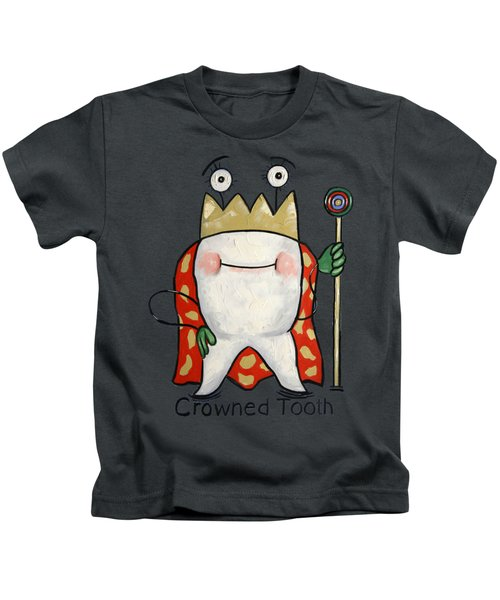 Crowned Tooth T-shirt Anthony Falbo Kids T-Shirt