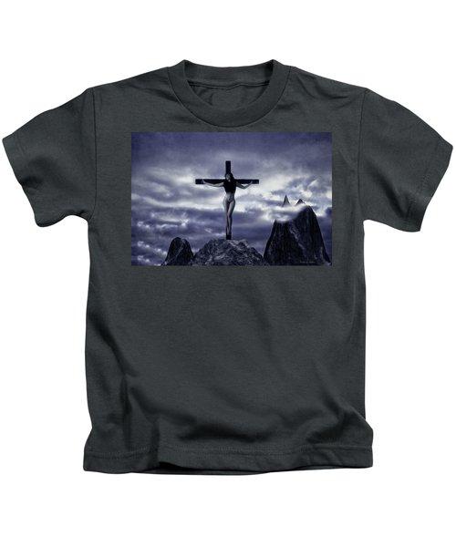 Crucifixion On The Mountain Kids T-Shirt