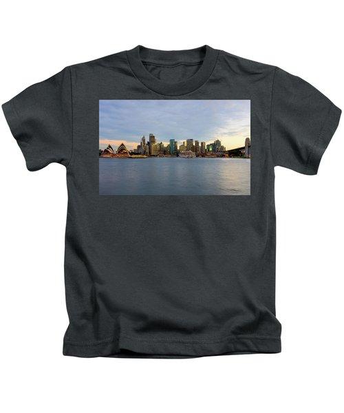 Cruiseship Sunset Kids T-Shirt by Petar Belobrajdic