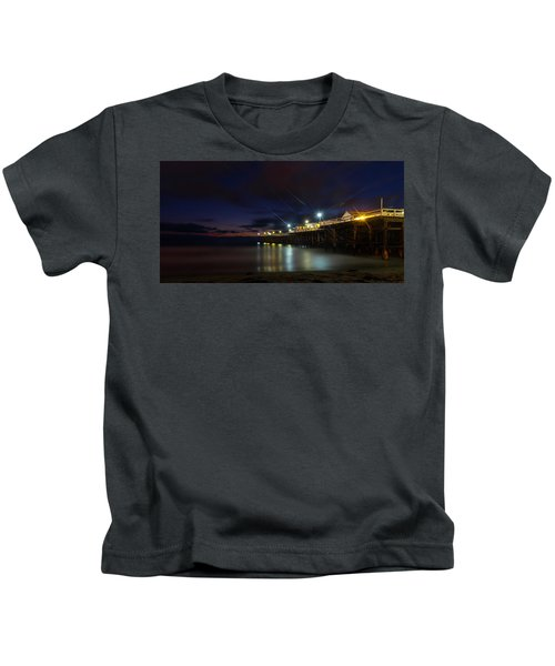 Crystal Beach Pier Blue Hour  Kids T-Shirt
