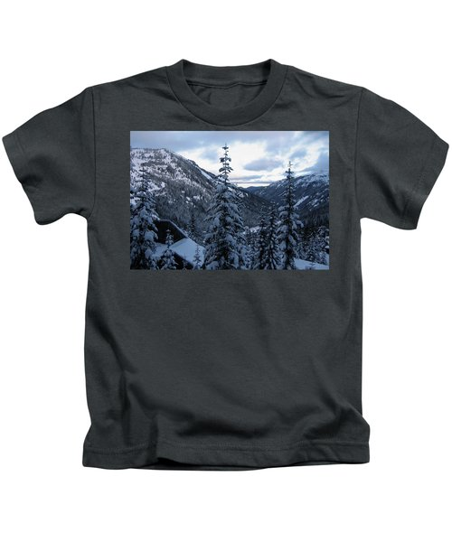Crystal Mountain Dawn Kids T-Shirt