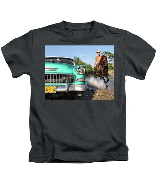 Cuban Horsepower Kids T-Shirt