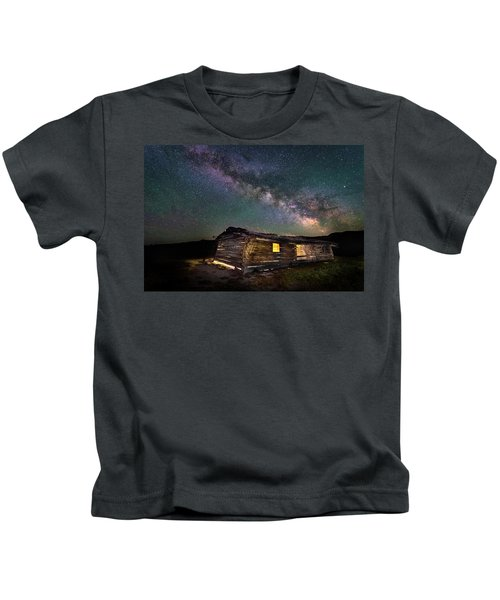 Cunningham Cabin After Dark Kids T-Shirt