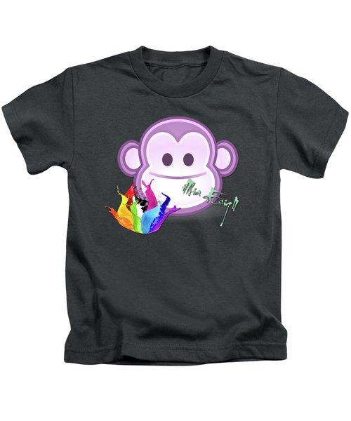 Cute Gorilla Baby Kids T-Shirt by Maria Astedt