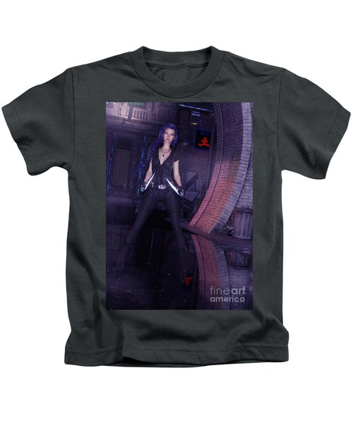 Cyberpunk Assassin Kids T-Shirt