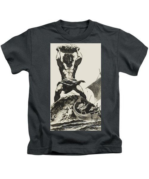 Cyclops Kids T-Shirt by Angus McBride