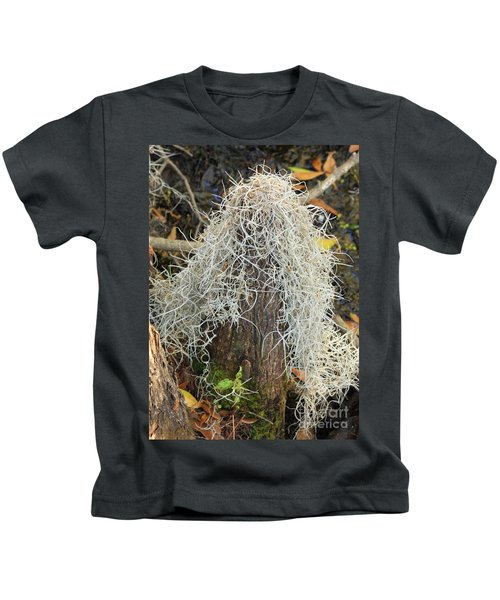 Cypress Knee Draped With Moss Kids T-Shirt