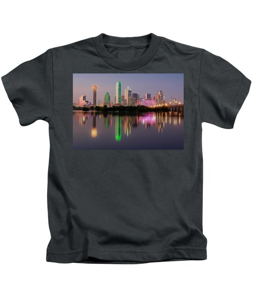 Dallas City Reflection Kids T-Shirt